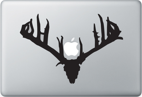 Buck Rack Apple Macbook Decal Sticker