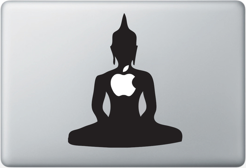Buddha Apple Macbook Decal Sticker