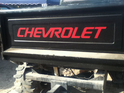 Chevrolet for STEPSIDE BED Tailgate Decal / Sticker Chevy
