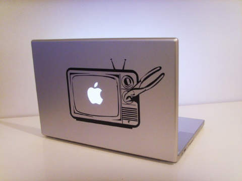 Apple TV macbook decal sticker