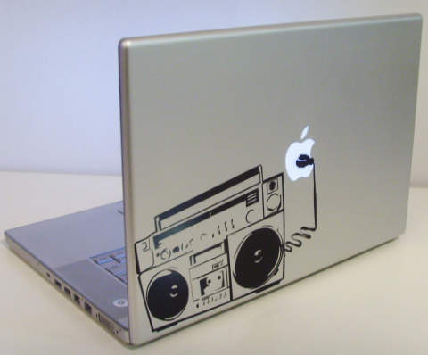 Apple Recorder macbook decal sticker