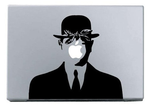 Apple cool hat man macbook decal sticker