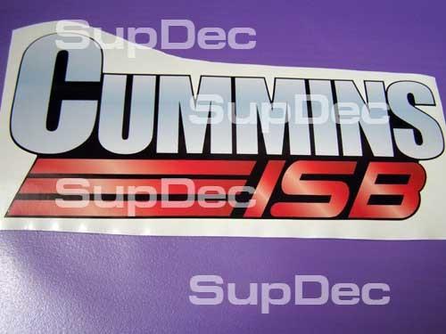 2 Cummins ISB Emblem Dodge Ram Aufkleber