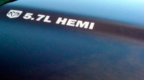 DECALS FOR Dodge HEMI 5.7 liter Ram Truck Racing Hood stickers decals