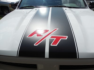DODGE CHALLENGER R/T decals sticker Hood stripes