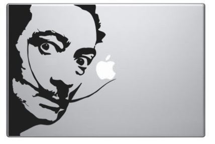 Dali and Apple MacBook Decal