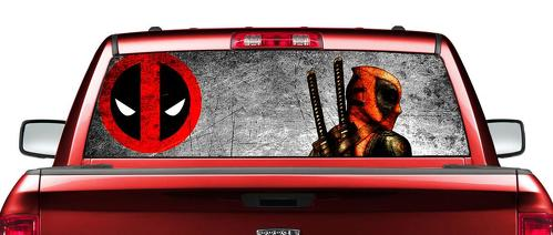 Deadpool Marvel Comics movies Rear Window Decal Sticker Pick-up Truck SUV Car #2