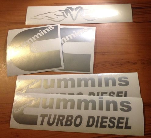 Dodge Cummins vinyl decal sticker graphic kit, Dodge Ram, Power