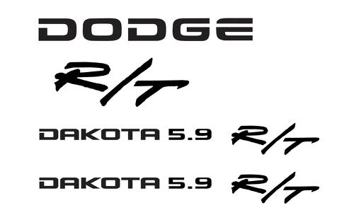 Dodge Dakota 5.9 R/T decal sticker kit Dodge many colors