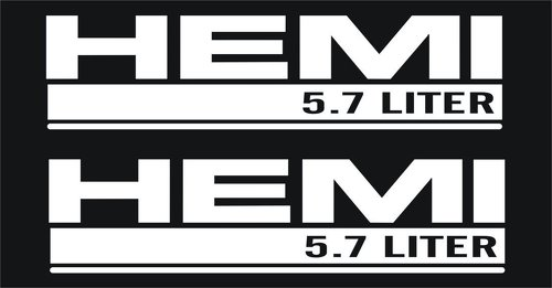 2 Dodge Hemi 5.7 Liter Hood Decals