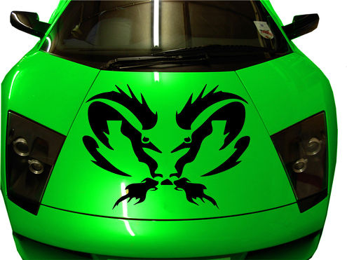 Dodge Ram Vinyl Decal Graphic Sticker Tribal Hood 40
