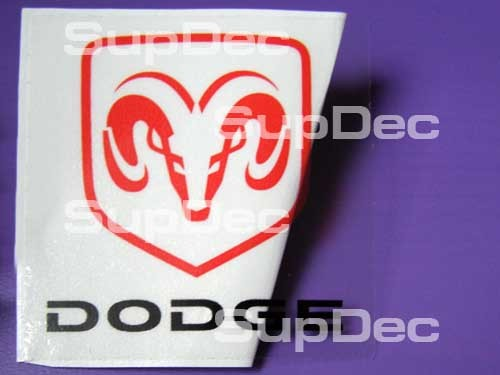 Dodge ram head emblem decal sticker transparency