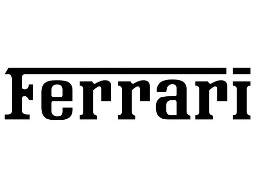 FERRARI TEXT DECAL 2021 Self adhesive vinyl Sticker Decal