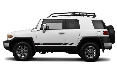 FJ CRUISER Toyota FJ Cruiser Angled Side Door Racing Decals Stripes Graphics #1