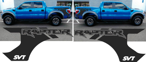 FORD F 150 RAPTOR SVT bed DECALS GRAPHICS STICKERS CHATTER