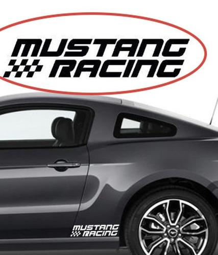 FORD MUSTANG Racing Side Skirt Fender GT 5.0 Vinyl 3 decals incl 2014 2013 2012