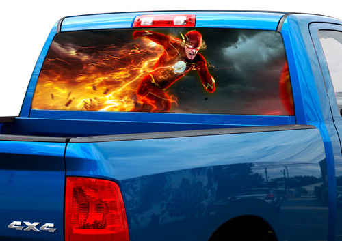 Flash DC Comics movies Rear Window Decal Sticker Pick-up Truck SUV Car #1