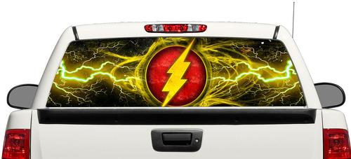 Flash DC Comics movies Rear Window Decal Sticker Pick-up Truck SUV Car #4