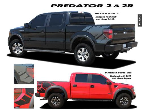 Ford F150 Raptor Graphics Decals Trim Emblems Kit PREDATOR 2 EE1821 // 2009-2012