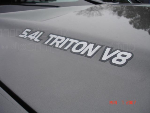2 Ford 5.4l Triton V8 Hood TRUCK DECALS Vinyl Decal Stickers