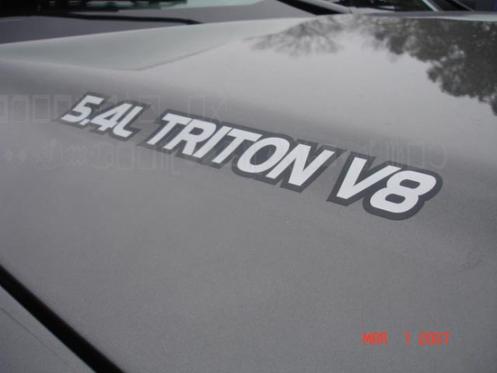 2 Ford 5.4l Triton V8 Motorhaube LKW-Aufkleber Vinyl-Aufkleber Aufkleber