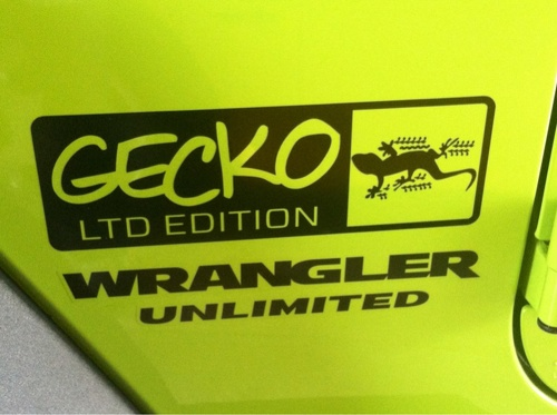 2 Gecko LTD Jeep Wrangler Rubicon TJ YK JK Vinyl Stickers