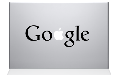 GOOGLE logo decal sticker macbook apple