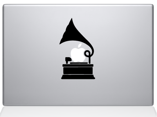 Gramophone decal sticker macbook apple