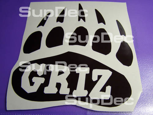 GRIZ Grizzly Bear Vinyl Decal