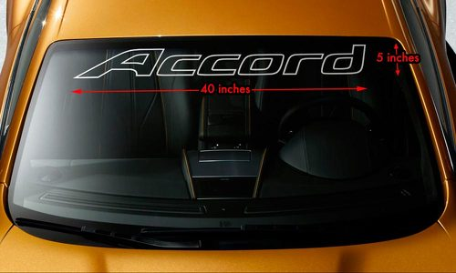 HONDA ACCORD OUTLINE Windshield Banner Vinyl Premium Decal Sticker 40