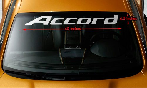 HONDA ACCORD Windshield Banner Vinyl Long Lasting Premium Decal Sticker 40
