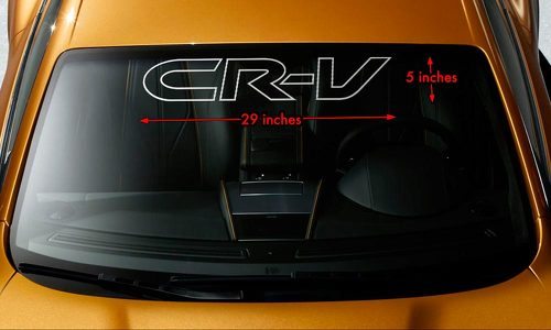 HONDA CRV CR-V OUTLINE Windshield Banner Vinyl Long Lasting Decal Sticker 29