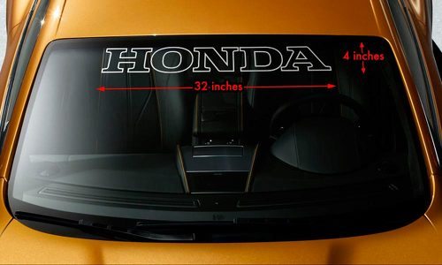 HONDA OUTLINE Windshield Banner Vinyl Long Lasting Premium Decal Sticker 32