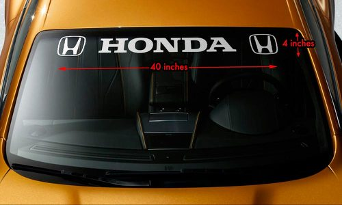 HONDA STYLE #3 Windshield Banner Vinyl Long Lasting Premium Decal Sticker 40