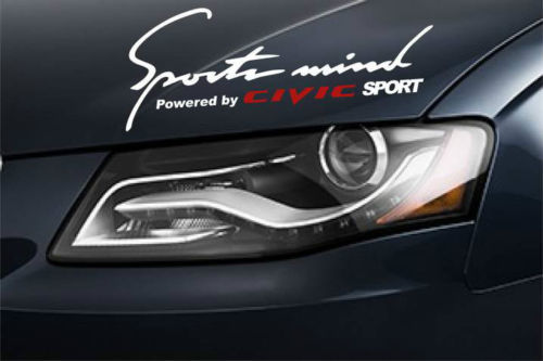 2 HONDA Sports Mind Powered by Civic SPORT R Tipe SI Decal