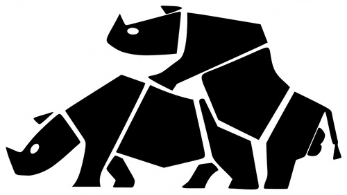 HUMPING SUZUKI RHINOS 5072 SELF ADHESIVE VINYL STICKER DECAL