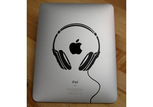 Headphones iPad Decal Sticker