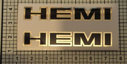 Hemi Decals  Chrome Black Set X2 PAIR Stroker Diesel
