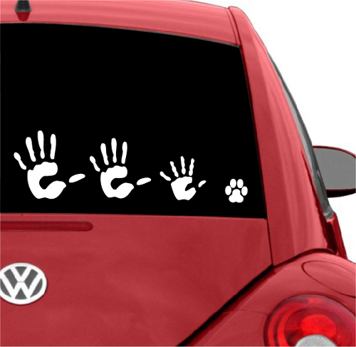 High Five Family Car Window CAR DECAL STICKERS