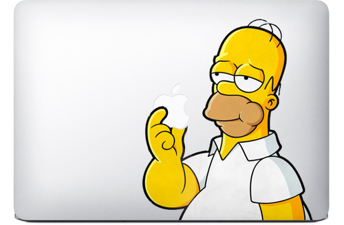 Homer Simpsons Apple Macbook Decal Sticker