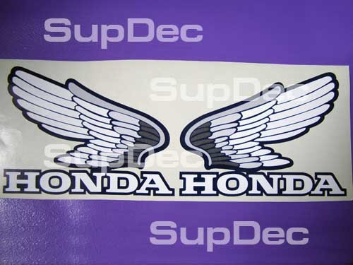 Honda Wings Tank Decal Sticker pair