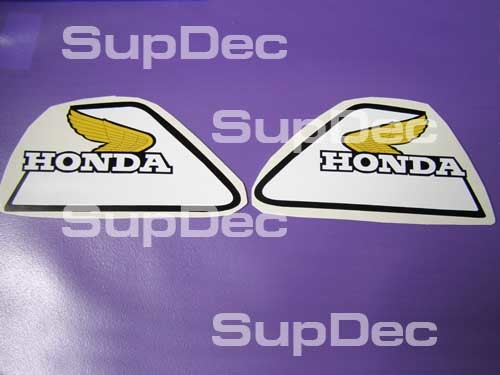 Honda CR125 XR80 CR XR Tank Decal Sticker pair