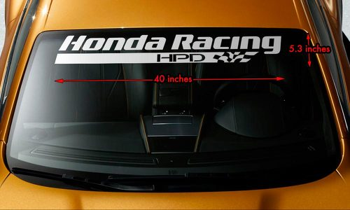 Honda Racing HPD Windshield Banner Vinyl Long Lasting Decal Sticker 40