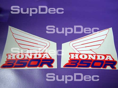 Honda Wings 350R Tank Decal Sticker pair