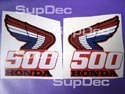 Honda 500 2(two) decals