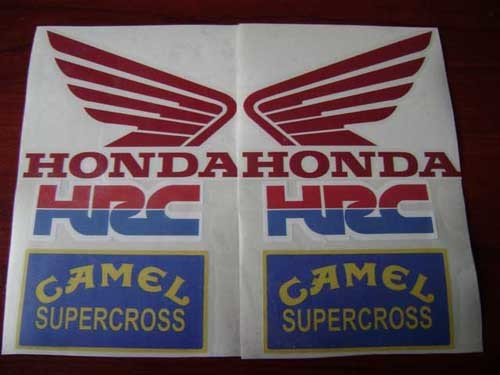 honda hrc camel red decal