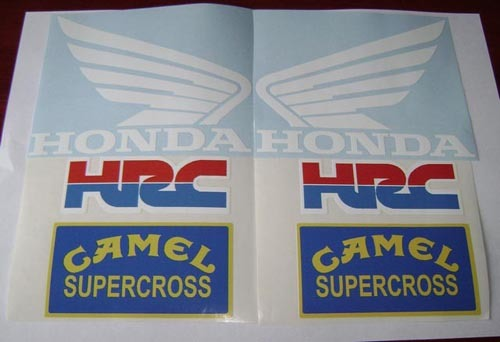 honda hrc camel white decal