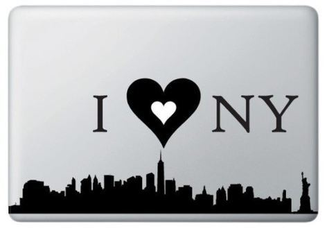 I love New York and MacBook Decal