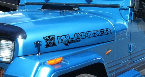 2 Islander Hood Edition Wrangler Rubicon TJ YK JK Decal Sticker