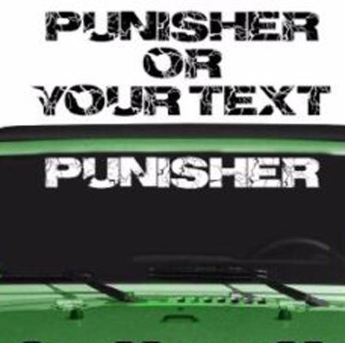 Jeep Punisher Rubicon CJ XJ YJ TJ Windshield Decal